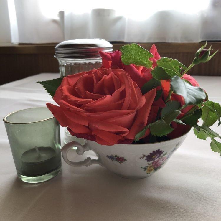 Frühstück Tisch Blumen